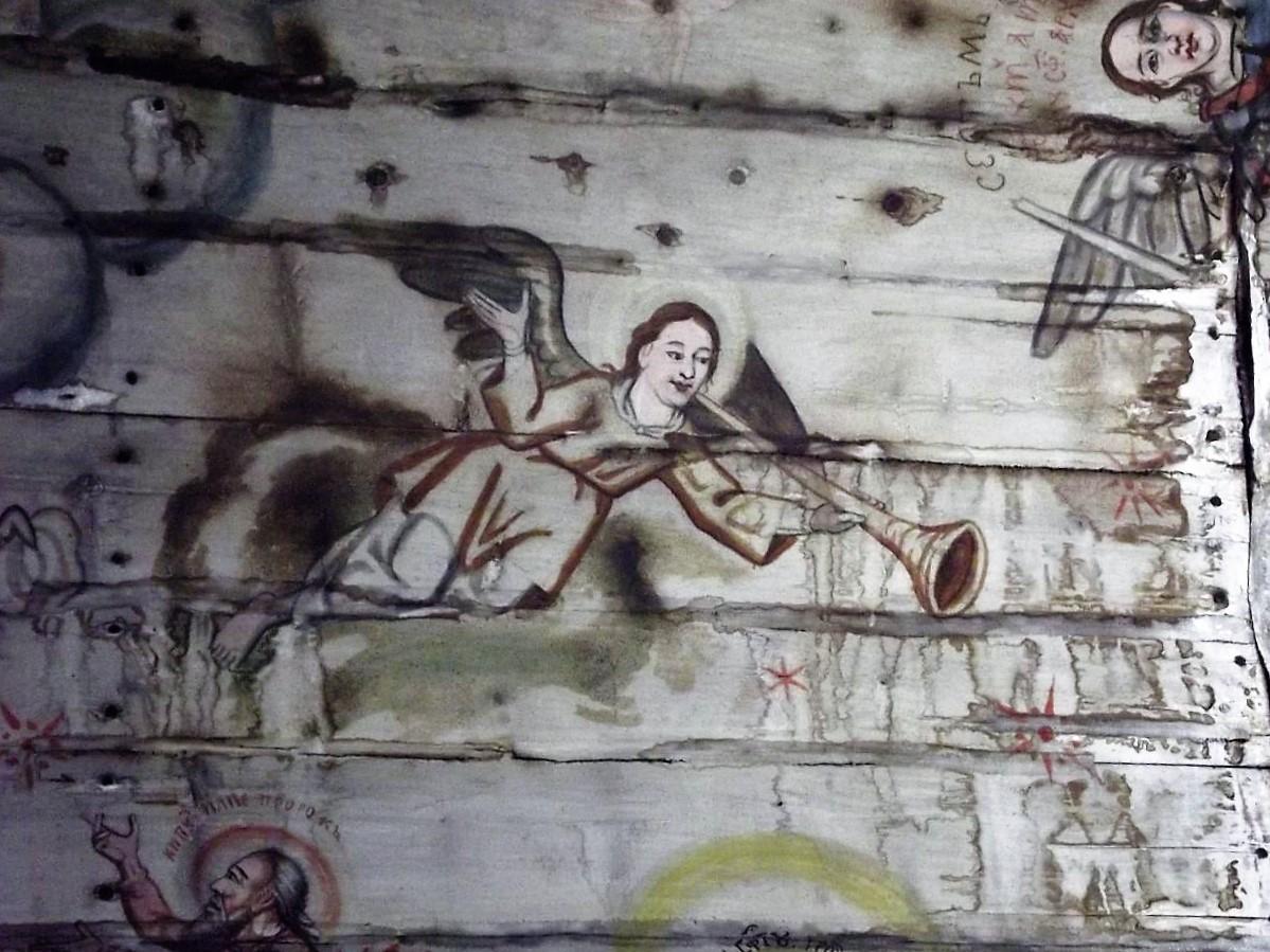 Biserica din Plopiș, pictură interioară