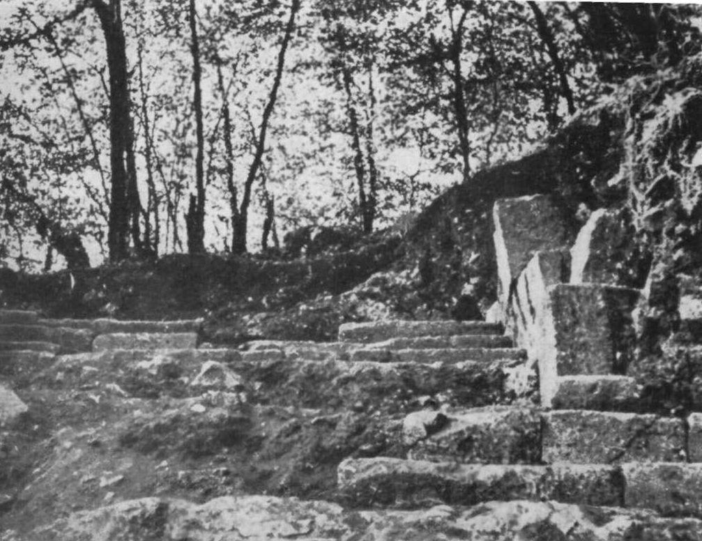 Poarta de intrare, după săpăturile din 1960-1961