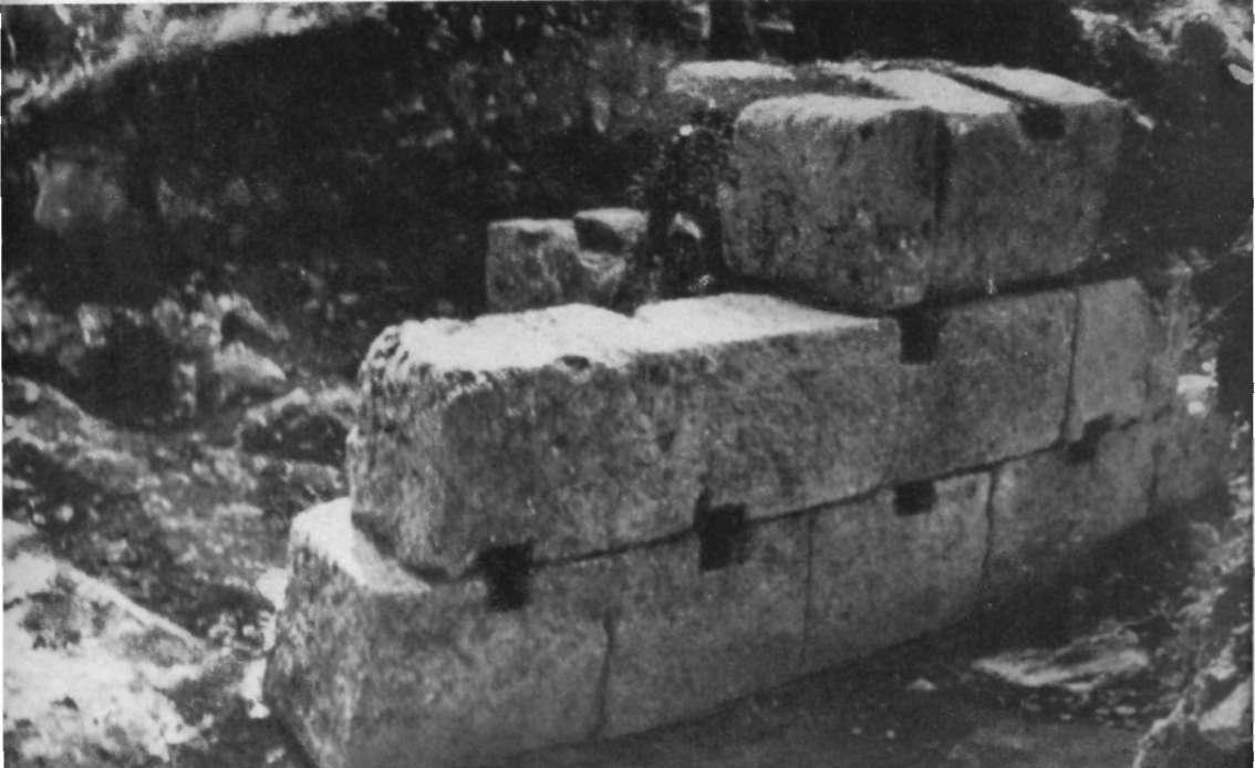 Zid de incintă, dezvelit în 1960-1961